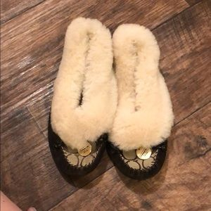Coach fuzzy slippers!